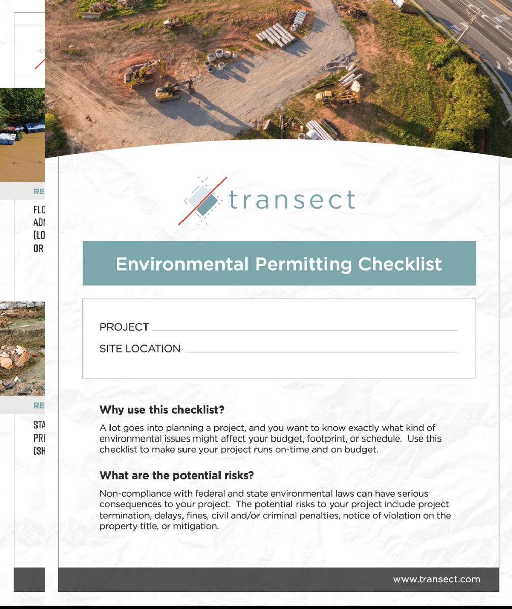 Environmental Checklist (screenshot)