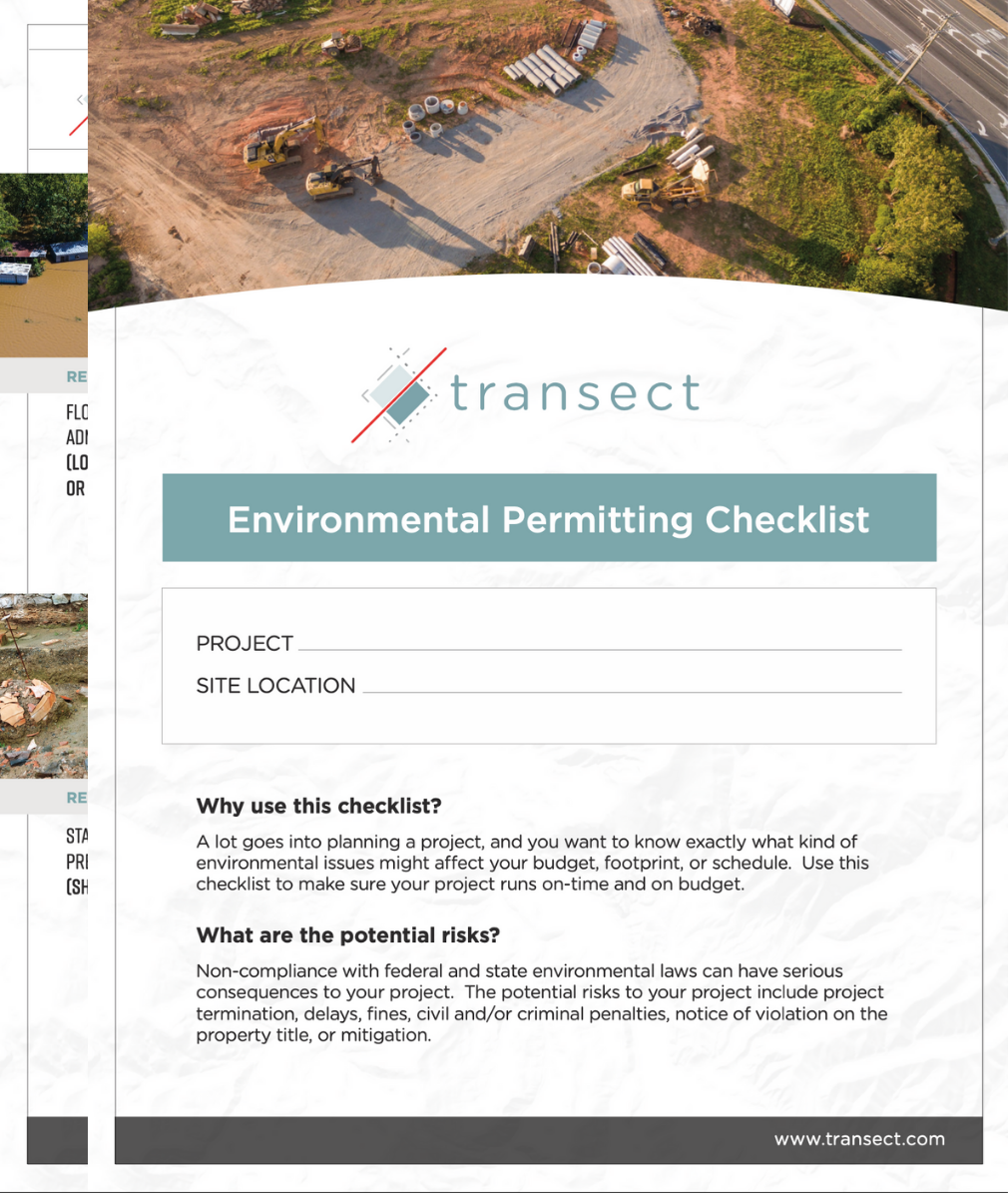 Environmental Checklist (screenshot)